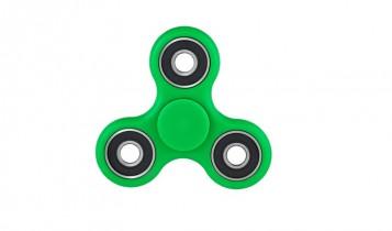 Fidget spinner groen met logo