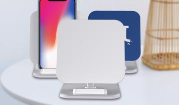 iphone draadloos opladen met logo