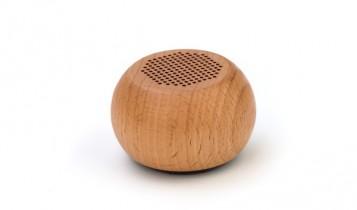 Houten speaker met logo