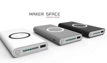 wireless powerbank met logo bedrukken